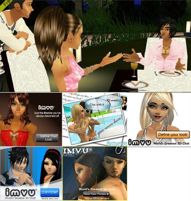 In the picture below a screenshot from the IMVU website, and 5 different ...